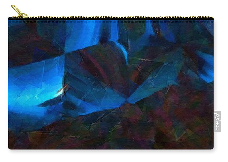 Abstract Carry-all Pouch featuring the painting Just Another Night In The Bunker by RC DeWinter