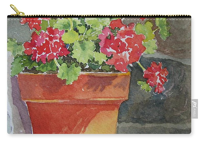 Claypots Carry-all Pouch featuring the painting Just Basking In The Sun by Mary Ellen Mueller Legault