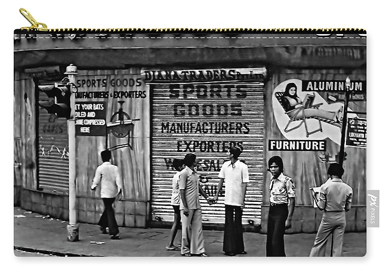 India Carry-all Pouch featuring the photograph Just Buddies Bw by Steve Harrington