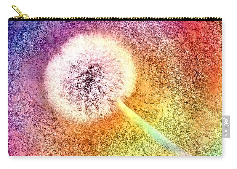 Abstract Carry-all Pouch featuring the photograph Just Dandy A Colorful Dream by Andee Design