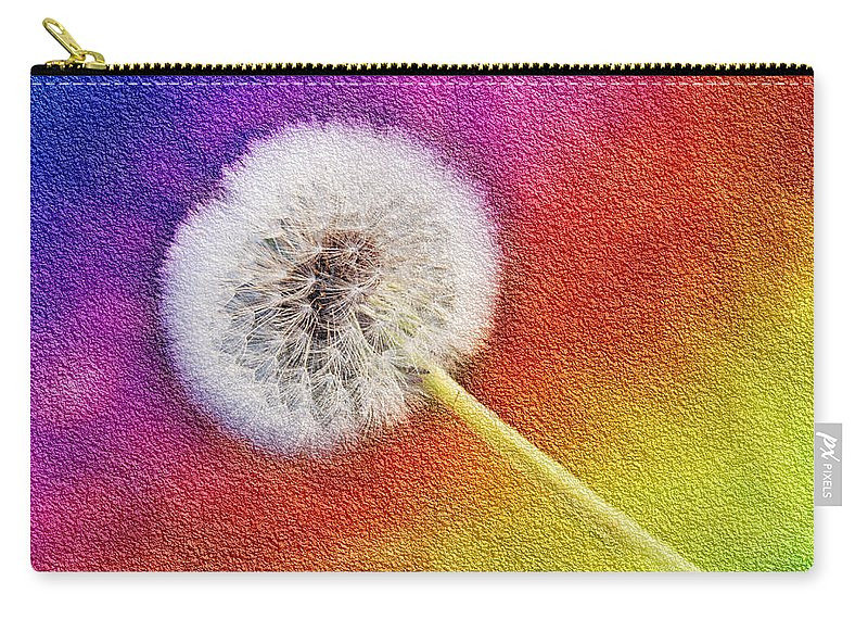 Abstract Carry-all Pouch featuring the photograph Just Dandy Rainbow 2 by Andee Design