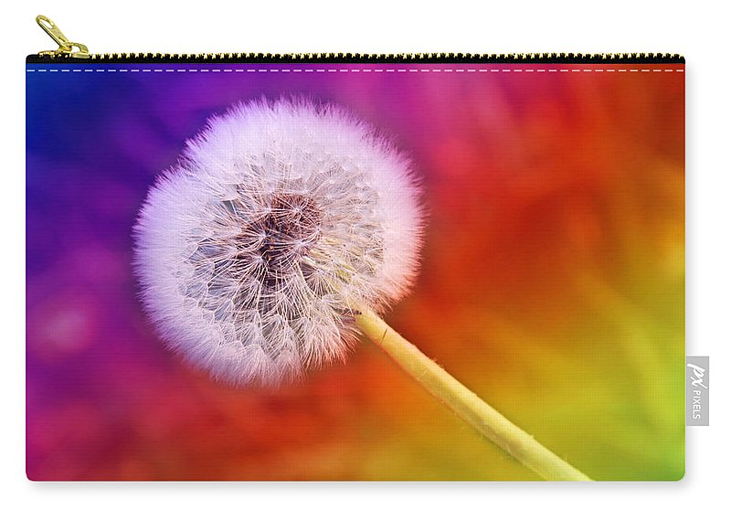 Abstract Carry-all Pouch featuring the photograph Just Dandy Rainbow by Andee Design