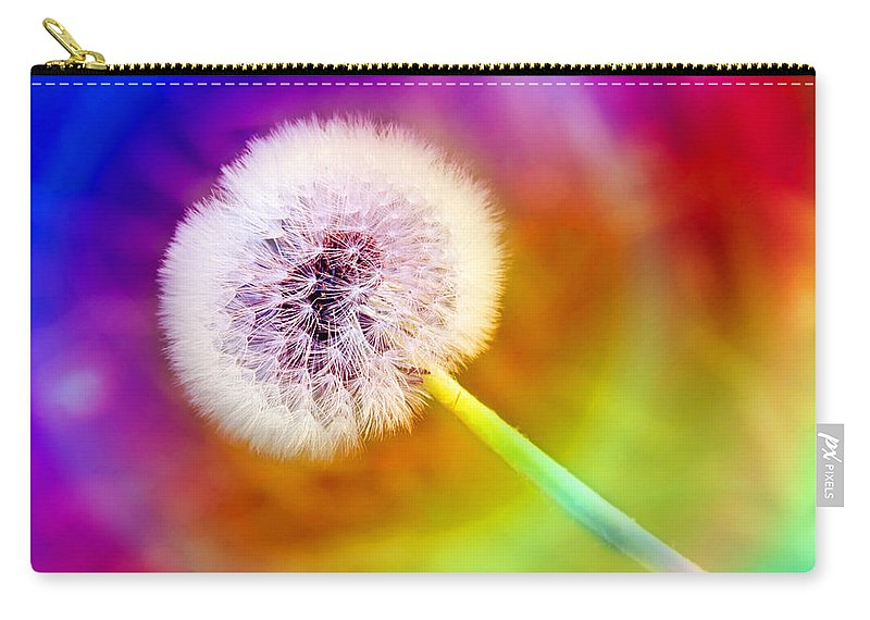 Abstract Carry-all Pouch featuring the photograph Just Dandy Taste The Rainbow by Andee Design