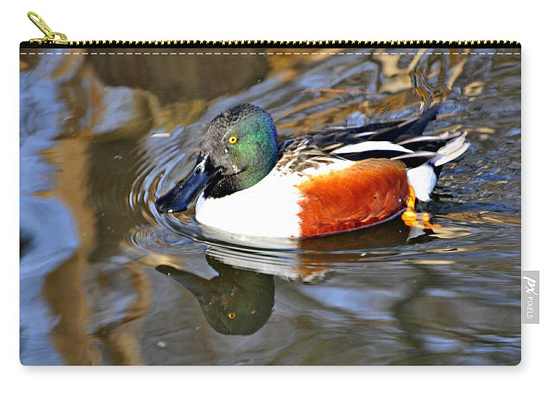Duck Carry-all Pouch featuring the photograph Just Ducky by Marty Koch