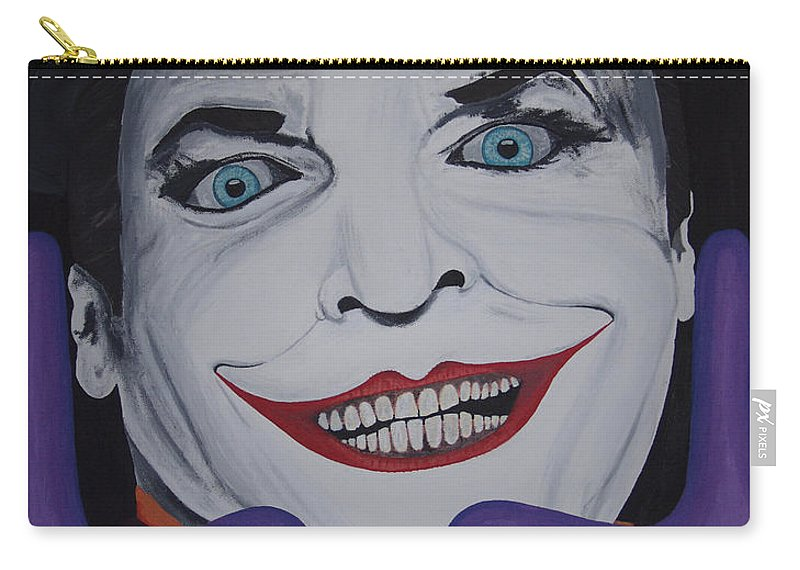 Colorful Carry-all Pouch featuring the painting Just Jack by Dean Stephens