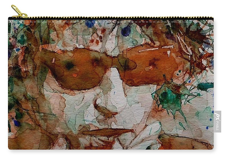 Bob Dylan Carry-all Pouch featuring the painting Just Like A Woman by Paul Lovering