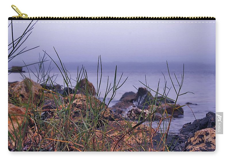Outdoor Carry-all Pouch featuring the photograph Just Over The Rocks by Debra Forand