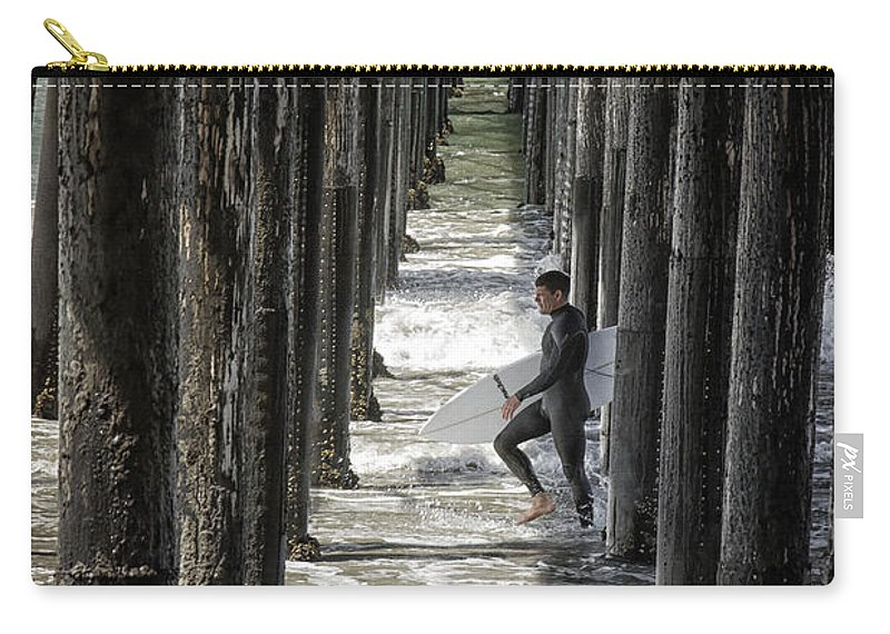 Oceanside Carry-all Pouch featuring the photograph Just Passing Through by Joan Carroll