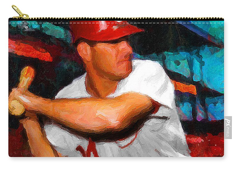 Pete Rose Carry-all Pouch featuring the painting Just Pete Rose by John Farr