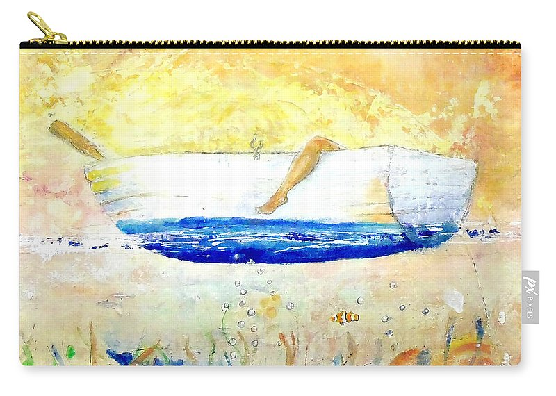 Expressionism Carry-all Pouch featuring the painting Just Relax by Marcello Cicchini