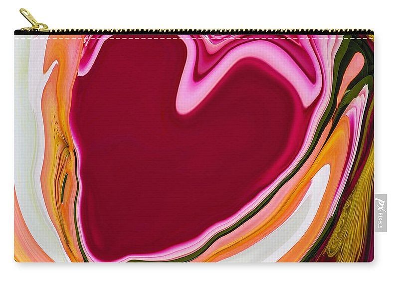 Heart Carry-all Pouch featuring the digital art K877 by Steve Herndon