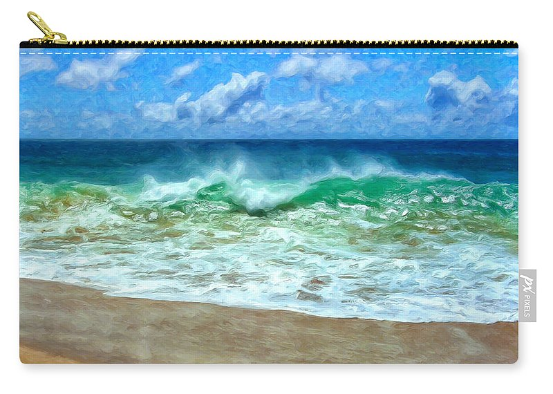 Kaanapali Beach Carry-all Pouch featuring the painting Kaanapali Shorebreak Maui by Dominic Piperata