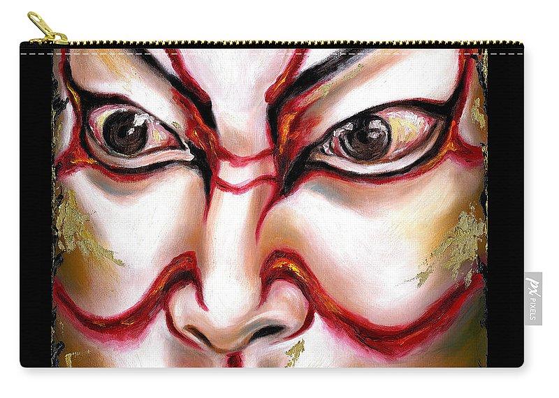 Kabuki Carry-all Pouch featuring the painting Kabuki One by Hiroko Sakai