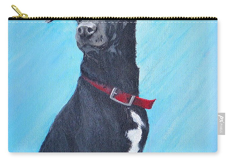 Dog Carry-all Pouch featuring the painting Kahlua by Alicia Fowler