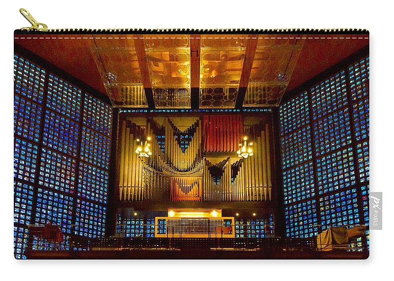 Jenny Setchell Carry-all Pouch featuring the photograph Kaiser Wilhelm Church Organ by Jenny Setchell