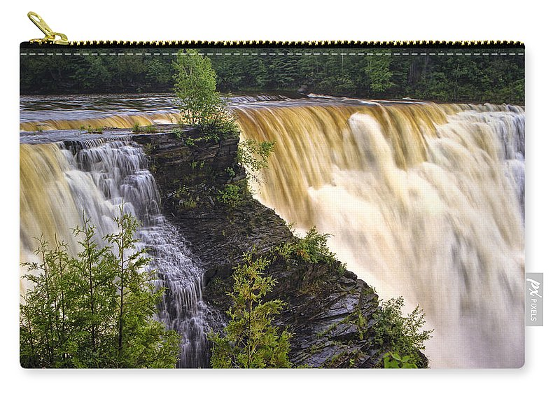 Art Carry-all Pouch featuring the photograph Kakabeka Falls On The Kaministiquia River by Randall Nyhof