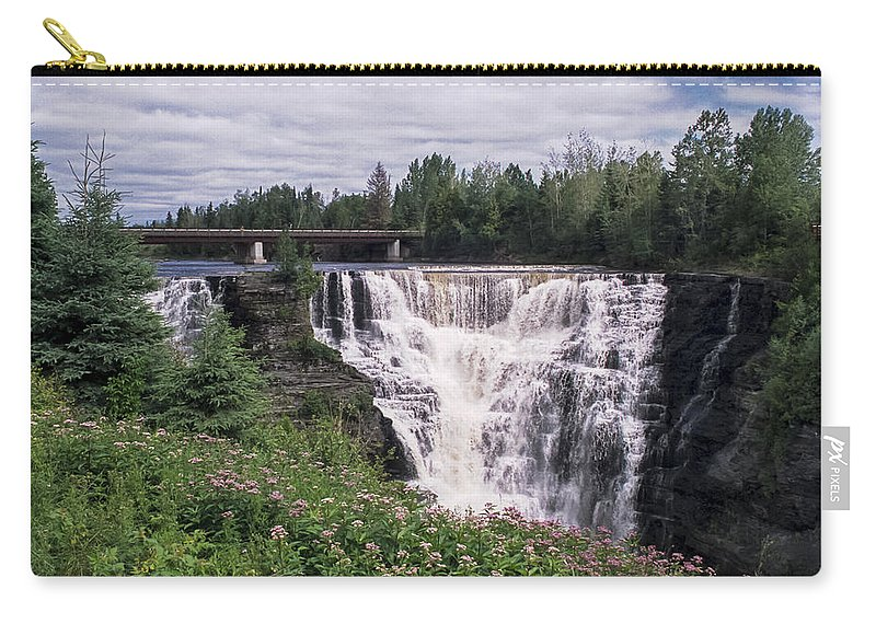 Kakabeka Carry-all Pouch featuring the photograph Kakabeka Falls by Richard Kitchen