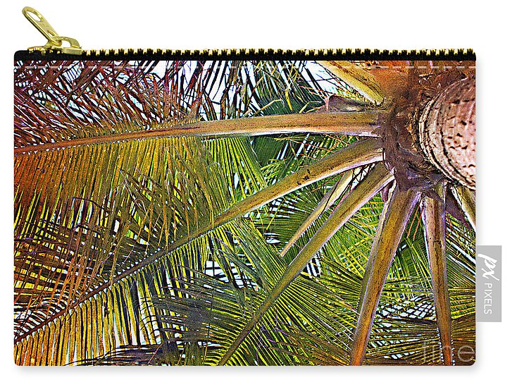 Palm Carry-all Pouch featuring the photograph Kaleidescope Palm by A New Focus Photography