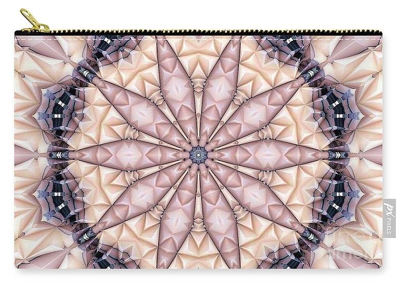 Abstract Carry-all Pouch featuring the digital art Kaleidoscope 20 by Ron Bissett