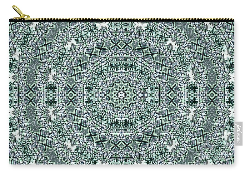 Kaleidoscope Carry-all Pouch featuring the digital art Kaleidoscope 31 by Ron Bissett