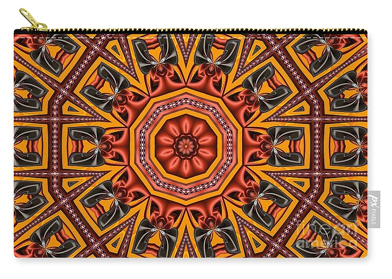 Kaleidoscope Carry-all Pouch featuring the digital art Kaleidoscope 39 by Ron Bissett