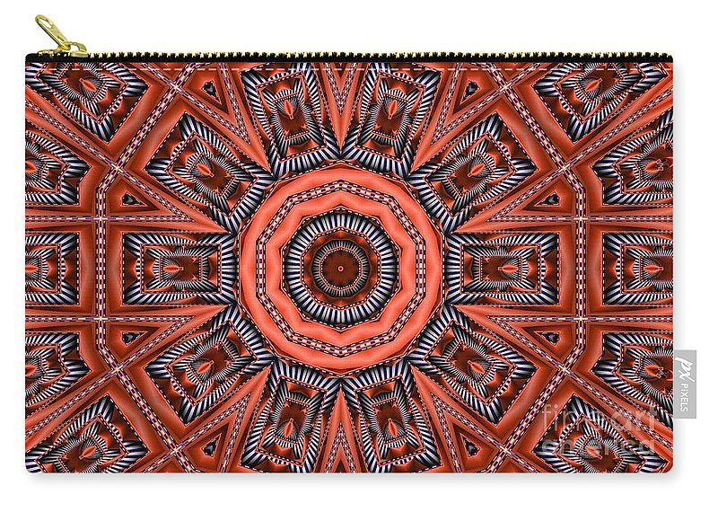 Kaleidoscope Carry-all Pouch featuring the digital art Kaleidoscope 40 by Ron Bissett