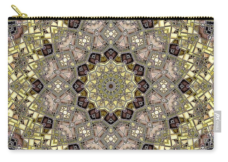 Kaleidoscope Carry-all Pouch featuring the digital art Kaleidoscope 50 by Ron Bissett