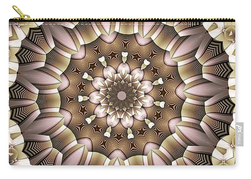 Kaleidoscope Carry-all Pouch featuring the digital art Kaleidoscope 65 by Ron Bissett
