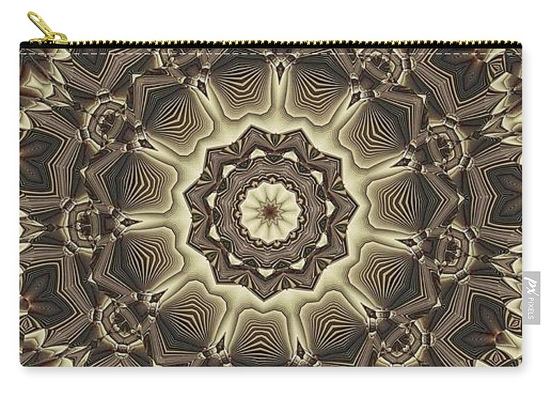 Kaleidoscope Carry-all Pouch featuring the digital art Kaleidoscope 66 by Ron Bissett