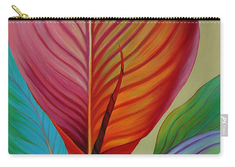 Kaleidoscope Carry-all Pouch featuring the painting Kaleidoscope by Sandi Whetzel