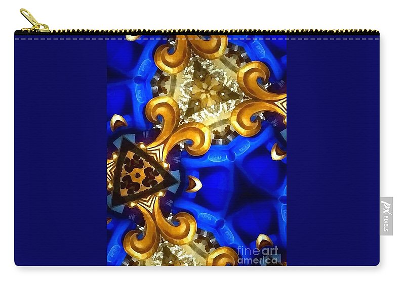 Keleidoscope Blues Carry-all Pouch featuring the photograph Kaleidoscopic Blues Fdl by Saundra Myles