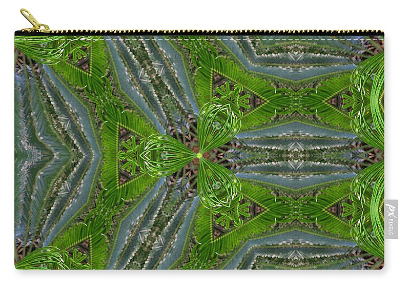 Carry-all Pouch featuring the photograph Kalido Plant Fronds by Sarah Houser