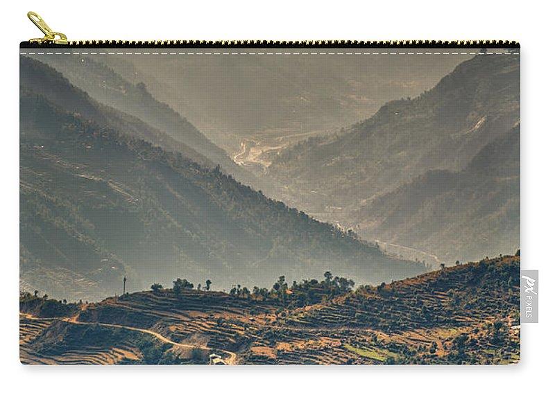 Adventure Carry-all Pouch featuring the photograph Kalinchok Kathmandu Valley Nepal by U Schade