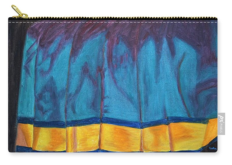 Kanchee Carry-all Pouch featuring the painting Kanchi Saree by Usha Shantharam