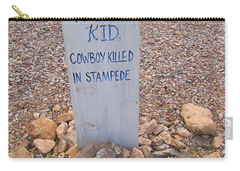 Kansa Kid Killed In A Stampede Carry-all Pouch featuring the photograph Kansa Kid Killed In A Stampede by John Malone