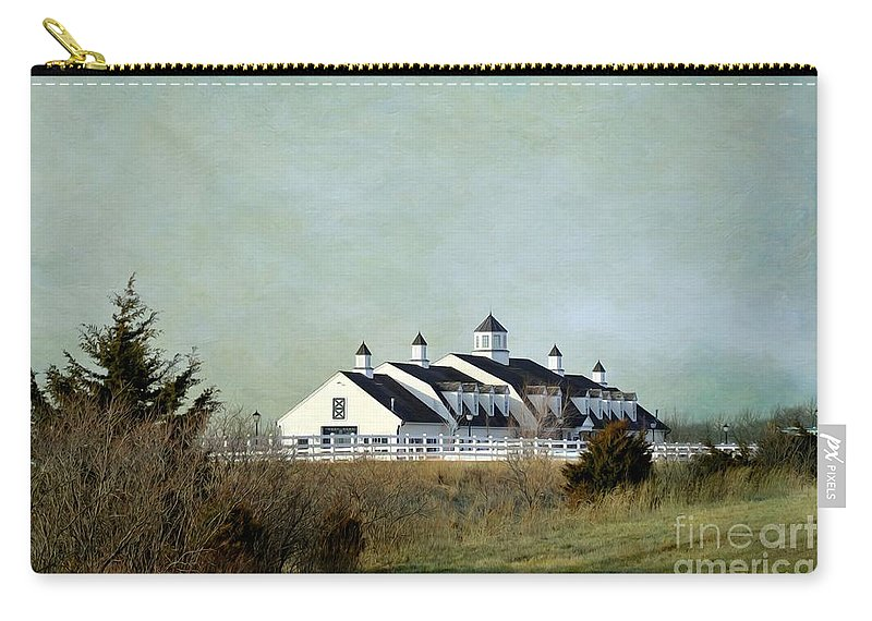 Kansas Landscape Carry-all Pouch featuring the photograph Kansas Landscape by Liane Wright