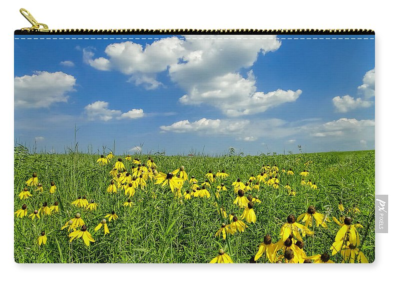 Kansas Carry-all Pouch featuring the photograph Kansas Prairie by Alan Hutchins