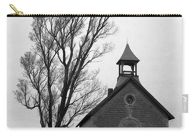 Kansas Carry-all Pouch featuring the photograph Kansas Schoolhouse by Crystal Nederman