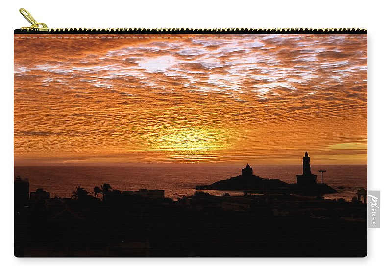Southend-on-sea Carry-all Pouch featuring the photograph Kanyakumari Dawn by Jijo George