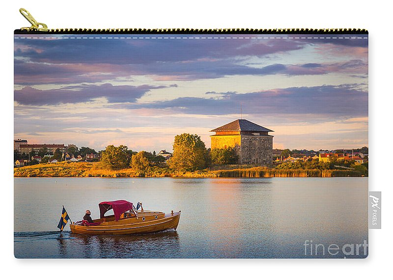Blekinge Carry-all Pouch featuring the photograph Karlskrona Boat by Inge Johnsson