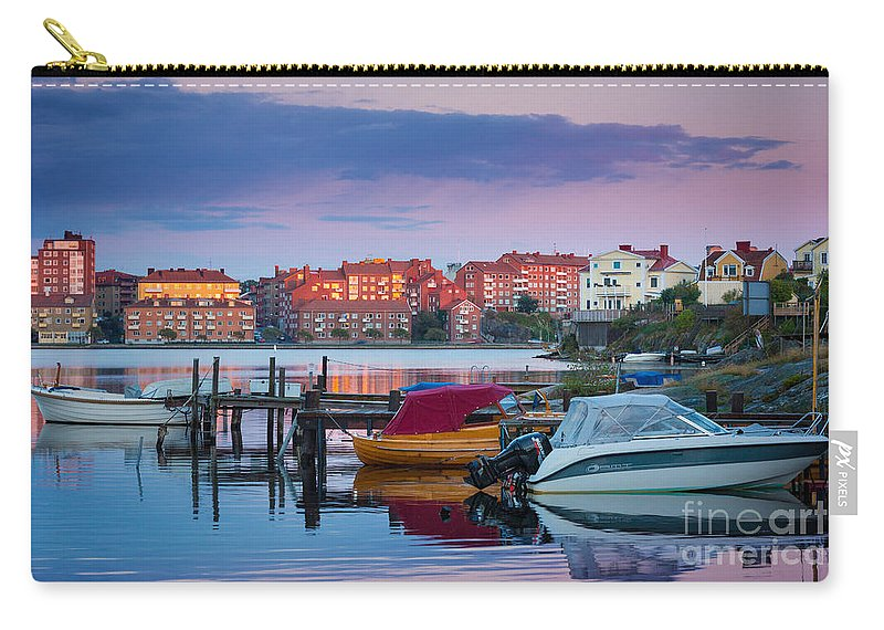 Blekinge Carry-all Pouch featuring the photograph Karlskrona Moorage by Inge Johnsson