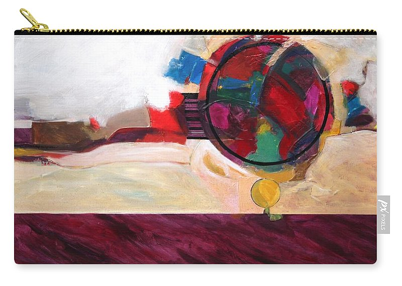 Abstract Carry-all Pouch featuring the painting Karma by Marlene Burns