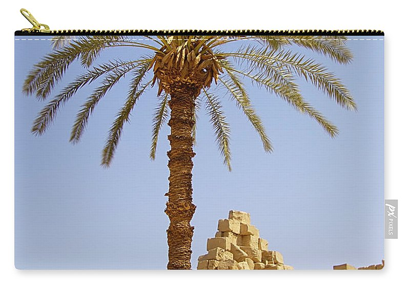 Egypt Carry-all Pouch featuring the photograph Karnak Temple 03 by Antony McAulay