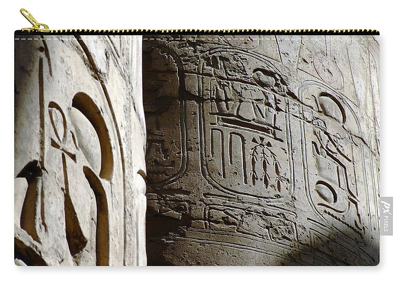 Egypt Carry-all Pouch featuring the photograph Karnak Temple 10 by Antony McAulay