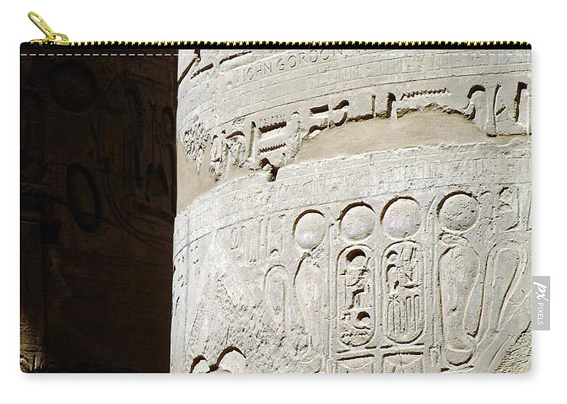 Egypt Carry-all Pouch featuring the photograph Karnak Temple 11 by Antony McAulay