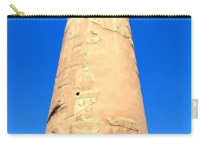Egypt Carry-all Pouch featuring the photograph Karnak Temple 18 by Antony McAulay