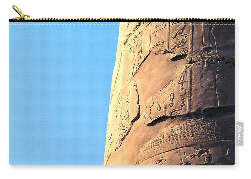 Egypt Carry-all Pouch featuring the photograph Karnak Temple 21 by Antony McAulay