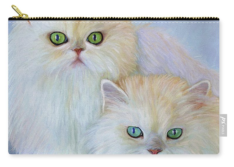 Cat Carry-all Pouch featuring the painting Katrina and Bjorn by David Wagner