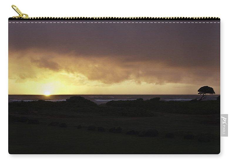 Kauai Carry-all Pouch featuring the photograph Kauai Hawaii Sunrise by Robert Ponzoni