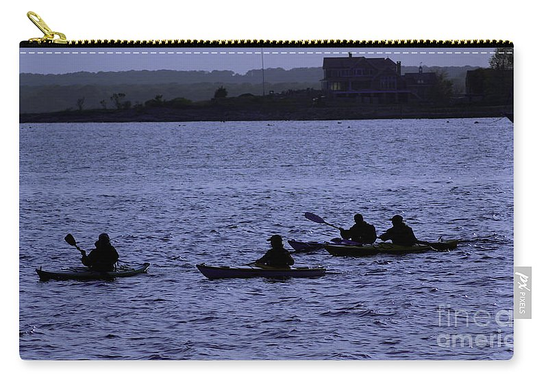 Kayak Carry-all Pouch featuring the photograph Kayaking Stonington by Joe Geraci